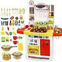 Cocina Juegos De ImitacióN para NiñOs Cocinita De Juguete con Luz Y Sonido Accesorios Plastico Cocinar Los Alimentos