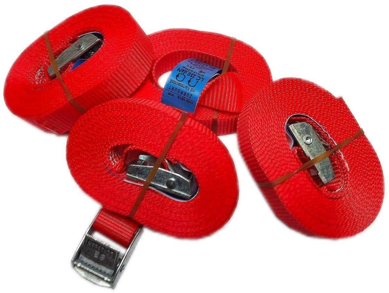 Timtina/® Cinghie di fissaggio con chiusura a morsetto dimensioni: 2,5 m 4 m 5 m 6 m portata: 250 kg