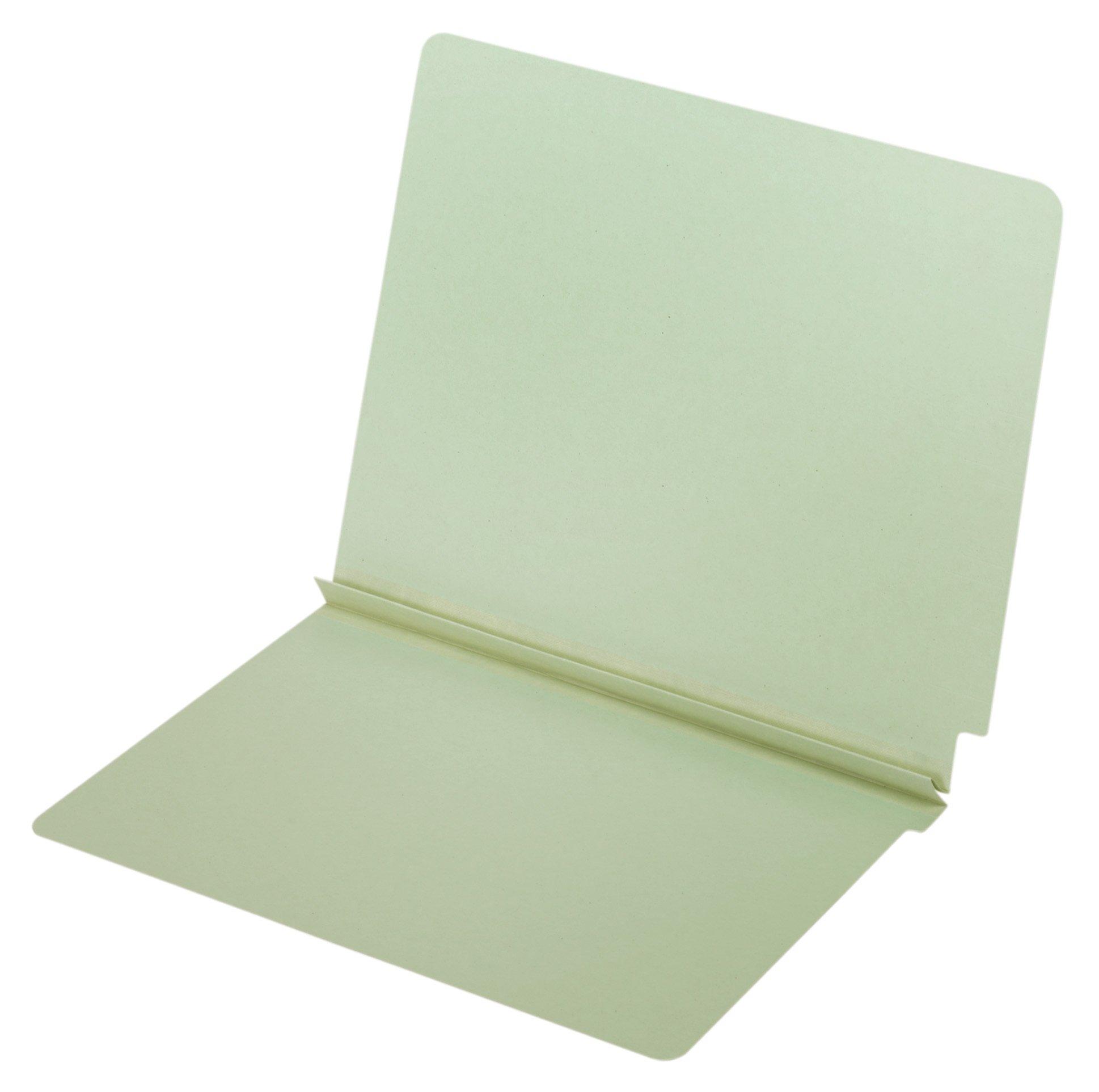 Globe-Weis/Pendaflex End Tab Pressboard Folder, 2-Inch Expansion, Letter Size, Light Green, 25 Folders Per Box (36210GW)