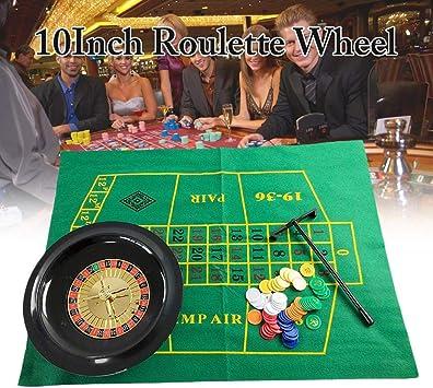 SunniY Juego de fichas de póker de Ruleta de 10 Pulgadas, Juego de Ruleta de Fiesta, Juegos Divertidos de Ocio Borad Juegos de Mesa de Entretenimiento para Adultos niños: Amazon.es: Deportes y