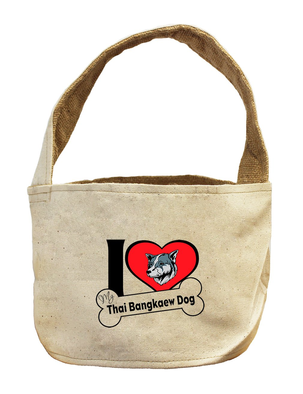 Style in Print Canvas/Burlap Basket I Love My Thai Bangkaew Dogdog Style 2