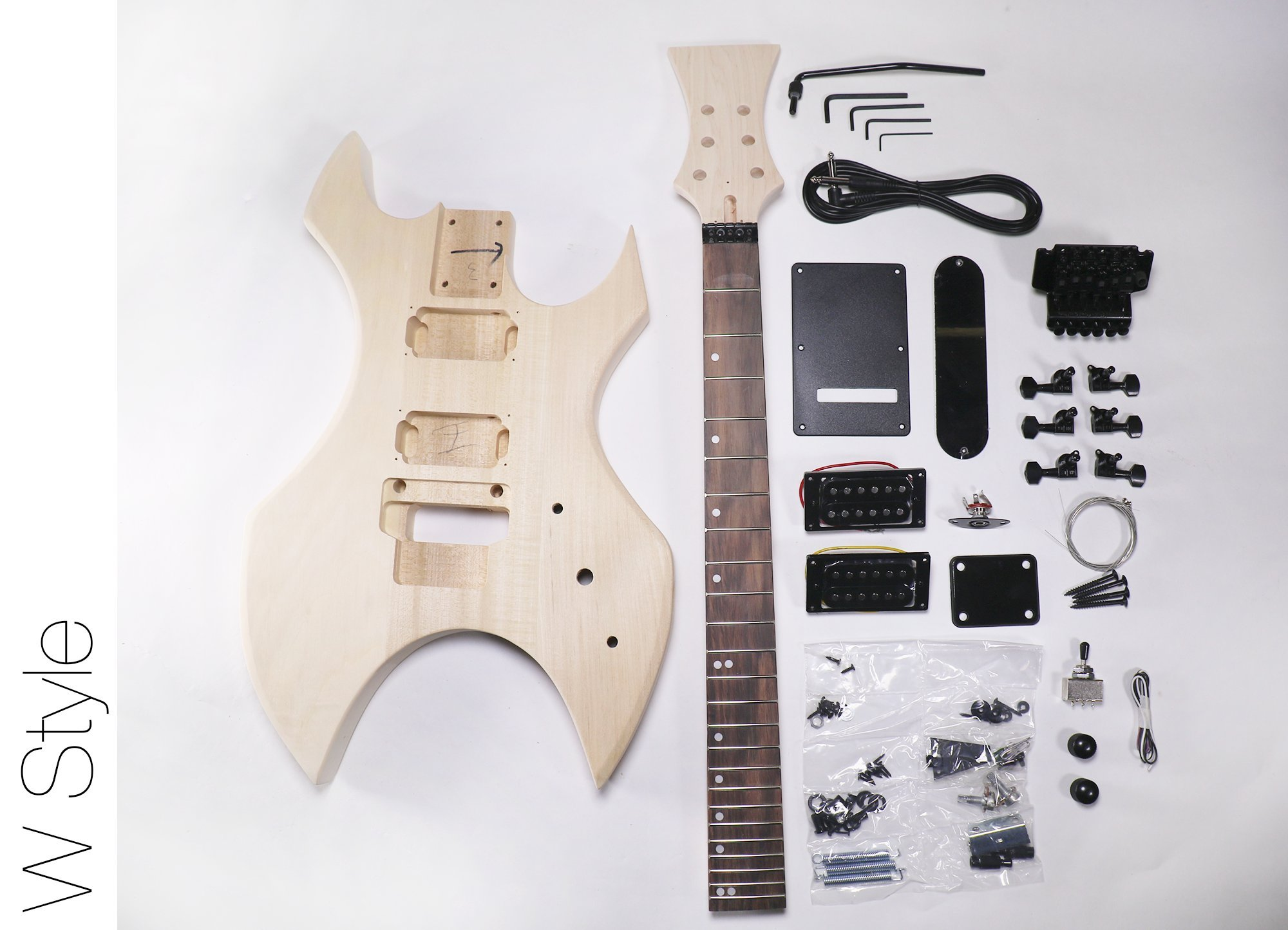 DIY Electric Guitar Kit W Style Build Your Own Guitar Kit by TheFretWire