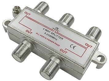 Cable divisor conector F 2/3/4 posiciones, alimentación DC,