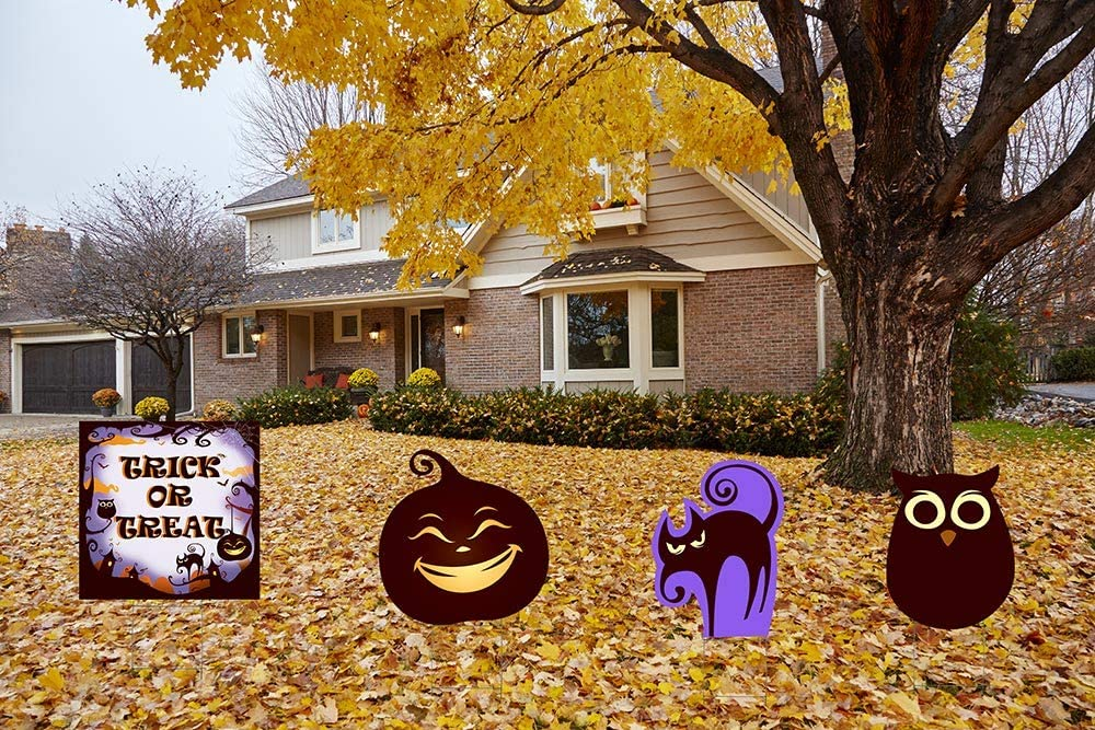 Set of 4 Lawn Decor Holiday Decor Andersons Sunflower Thanksgiving Yard Sign Decorations