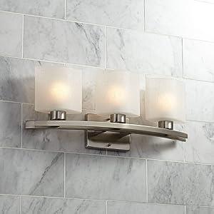 Modern Wall Light Brushed Nickel Hardwired 23 1/2