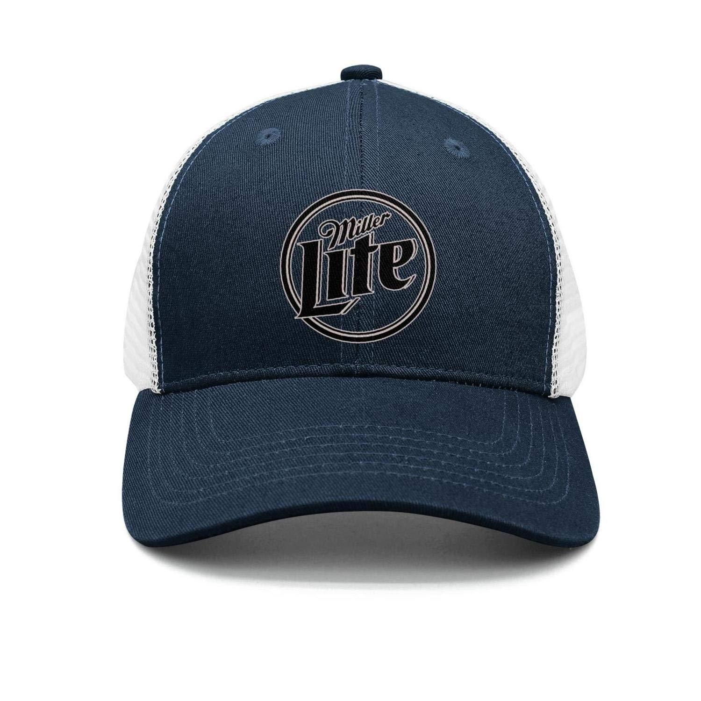 Unisex Womens Miller-Lite-Miller-Logo Baseball All Cotton Classic Stylish Hat