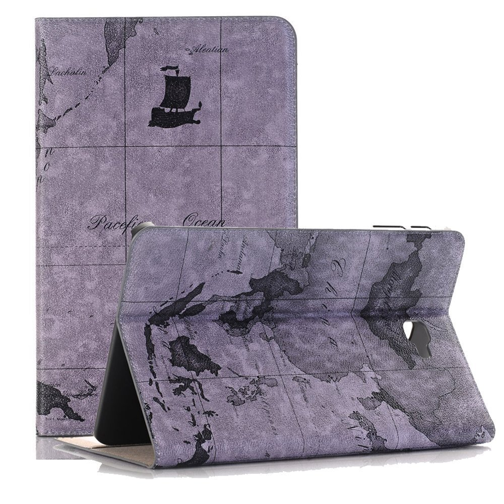 TechCode Case for Samsung Tab A T350, Premium Slim Fit Lightweight, PU Leather Luxury Book Style Folio Smart Stand, Protective Case Cover for Samsung Galaxy Tab A 8.0(SM-T350 P350) 2015 Tablet-Grey