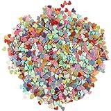Gazechimp Confeti de PVC Colorido Diseño con Corazón de Amor Artesanía de Bricolaje Accesorio de Fiesta de Ceremonia de Boda
