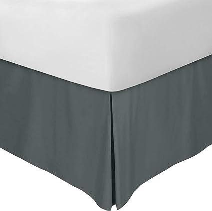 Utopia Bedding Cubre Canapé - Plisado - Encaja Debajo del Colchón y En el Suelo - Falda De La Cama (Gris, 90 x 190 cm)