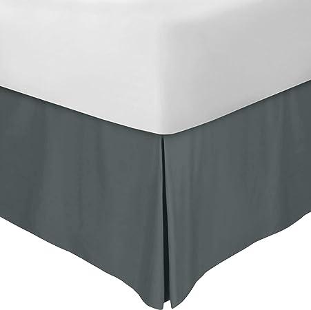 Utopia Bedding Cubre Canapé - Plisado - Encaja Debajo del Colchón y En el Suelo - Falda De La Cama (Gris, 150 x 200 cm)