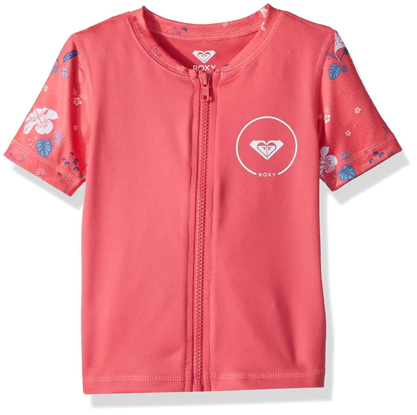Roxy Girls Shortbreak Short Sleeve Zip-up Rashguard ERLWR03076