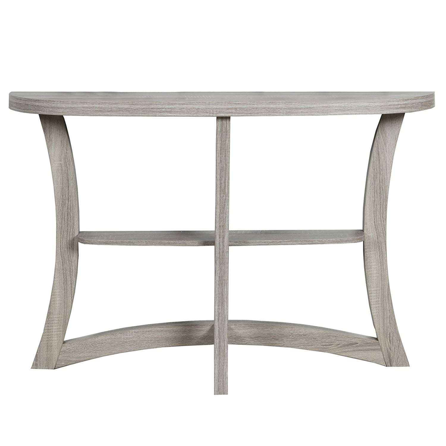 Monarch Specialties I 2415 Two Tier Hall Console Accent Table, 47, Cappuccino 47