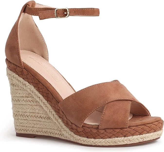 TTMOW Womens Casual Platform Sandals Wedge Ankle Strap Espadrille Heel Open Toe Sandals