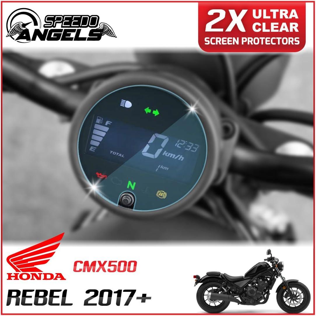 2017 Ultra Transparente Veloc/ímetro // Speedo // Tacho Protector de pantalla Speedo-Angels 2 x Honda Rebel CMX500