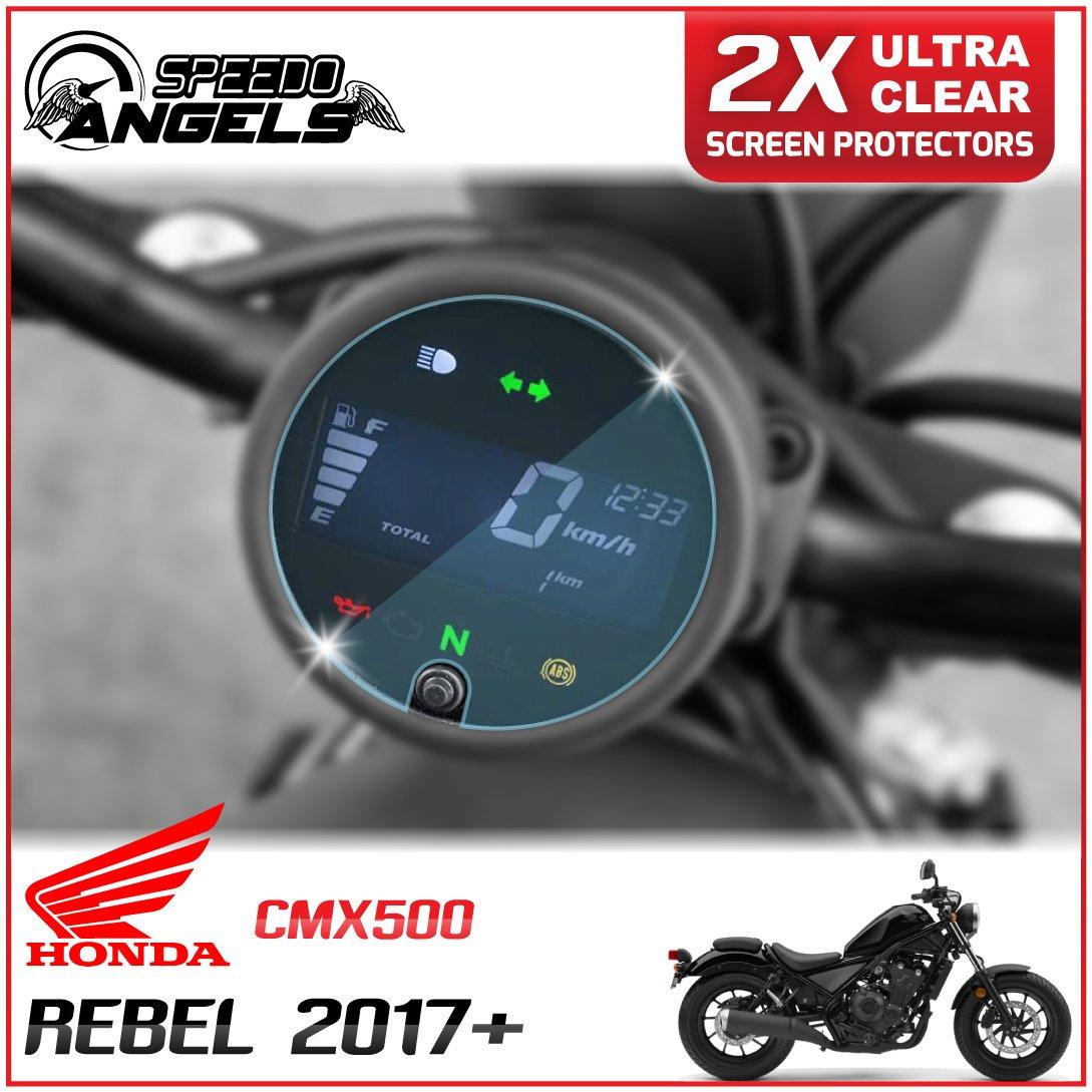 Speedo-Angels 2 x Honda Rebel CMX500 (2017>) Velocí metro / Speedo / Tacho Protector de pantalla - Ultra Transparente SA-HONREB-2UCc