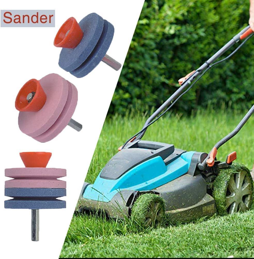 JoyFan Outil de Jardin aiguiseur pelouse Tondeuse /à Gazon Rotatif Lime /à Outil Rotatif Outil de Jardinage
