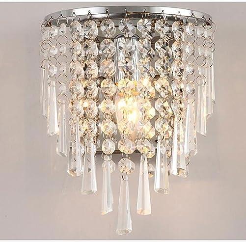 Jorunhe Modern Semi Circular Crystal Wall Light Lights for Home