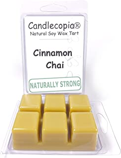 product image for Candlecopia Cinnamon Chai Strongly Scented Hand Poured Vegan Wax Melts, 12 Scented Wax Cubes, 6.4 Ounces in 2 x 6-Packs