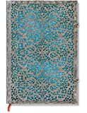 Paperblanks Silver Filigree Journals Maya Blue Grande, 8 1/4 in. x 11 3/4 in. 240 pages, unlined
