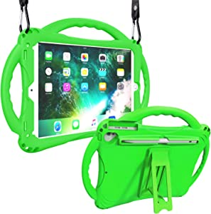 Adocham New iPad 9.7 Inch 6th/5th Generation 2018/2017 Case with Apple Pencil Holder, Lightweight and Shockproof Case with Kickstand for 6th/5th Gen, also Fits for iPad Pro 9.7, iPad Air 1/2(Green)