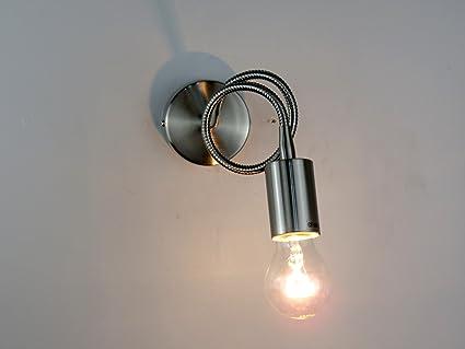 Lampada parete applique design moderno flessibile illuminazione