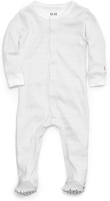 1212 Pijama con pies antideslizantes - 100% algodón Pima orgánico
