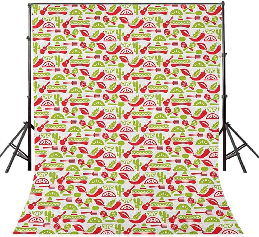 7x10 FT Vinyl Photography Backdrop,Valentines Day Themed Symbols of Love in Colorful Frames Romantic Illustration Background for Graduation Prom Dance Decor Photo Booth Studio Prop Banner