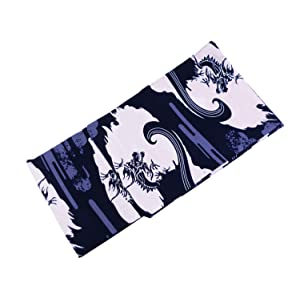 紳士用 綿素材 お仕立て上がり 浴衣 単品 ドラゴン mp-60 (Mサイズ, ネイビー/グレー(G))