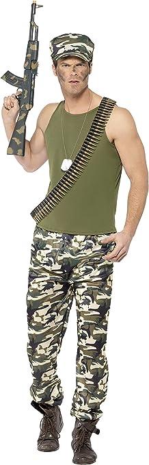Smiffy s 44659s Hombre ARMY disfraz (Tamaño pequeño): Amazon.es ...