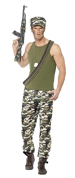 Smiffy s 44659 M hombres del ejército disfraz (tamaño mediano ...