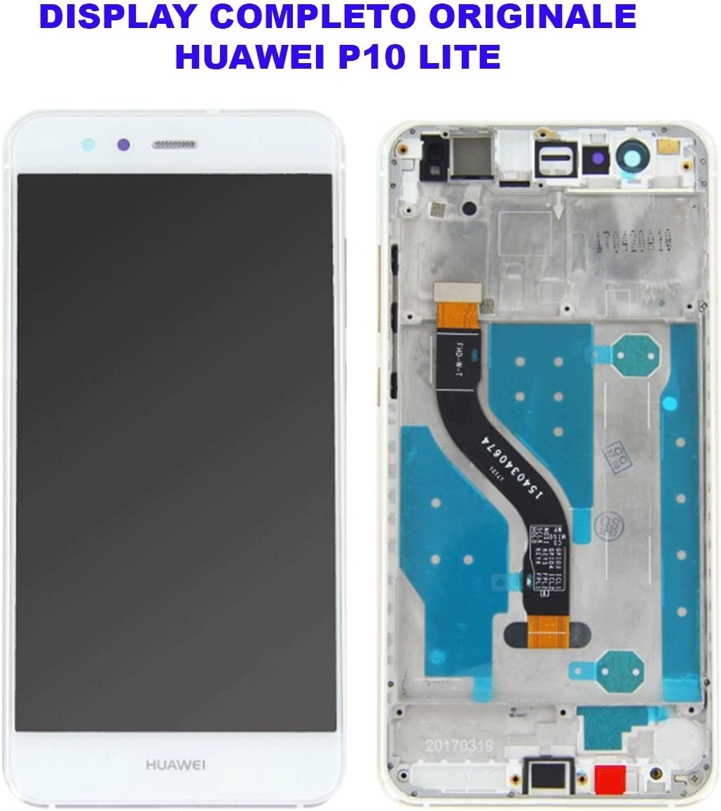 Cristal de Pantalla LCD Táctil de Huawei P10 Lite blanco, con marco: Amazon.es: Electrónica