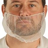 "UltraSource Beard Nets, Latex Free Polypropylene, Honeycomb, 18"" White (Pack of 100)"