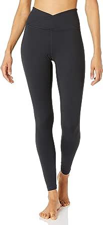 Amazon Brand - Core 10 Women's 'Build Your Own' Yoga Pant - Cross Waist Full-Length Legging, XL, Black
