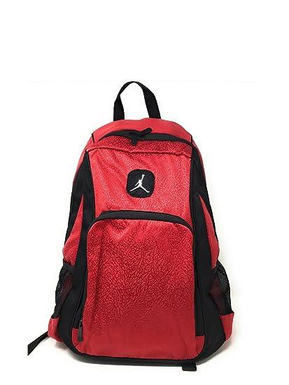 c920a2e6a2ca96 Amazon.com  Nike Air Jordan Legacy Elite Black Red Backpack 20