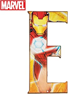 Superhero Letter Metal Wall Decor Marvel and DC Comic Letters (E)