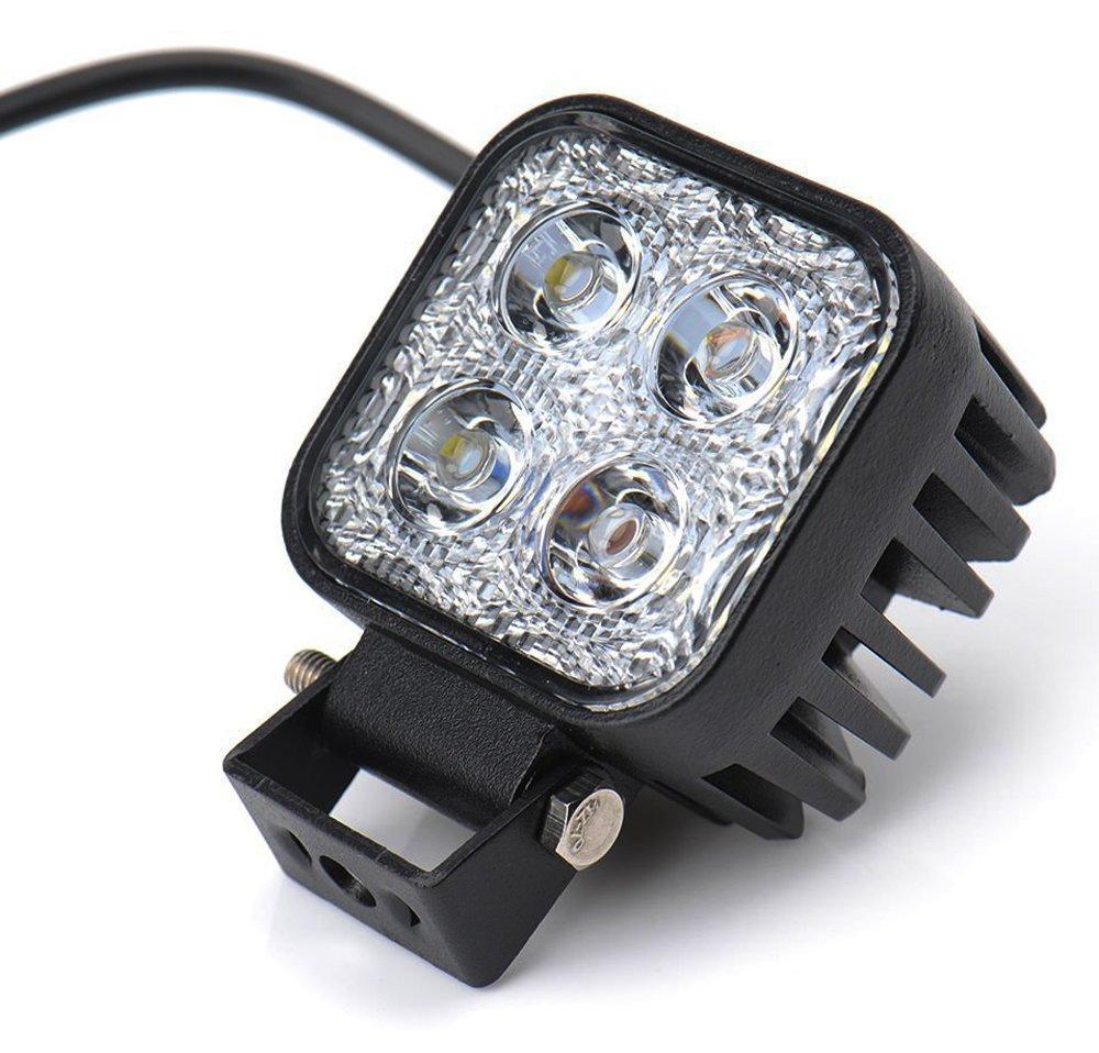 Leetop 4X 18W LED Barre de Travail Phares /étanche Longue Port/ée Led Projecteur
