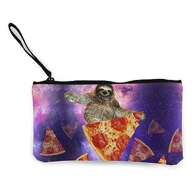 Amazon.com: Sloth Galaxy Travel On Pizza Monedero de viaje ...