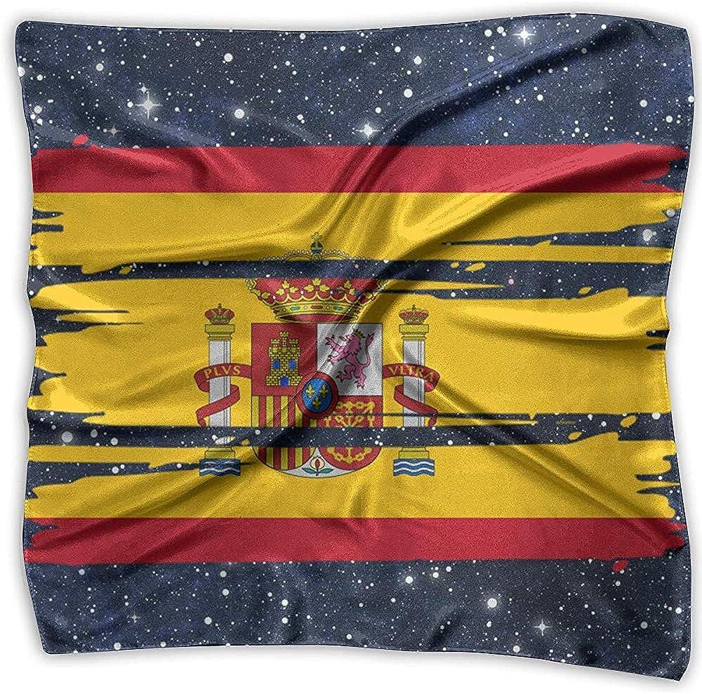 TRIR square scarf Bufanda cuadrada con bandera de España - Pañuelo para mujer ligero y floral 100% poliéster: Amazon.es: Ropa y accesorios