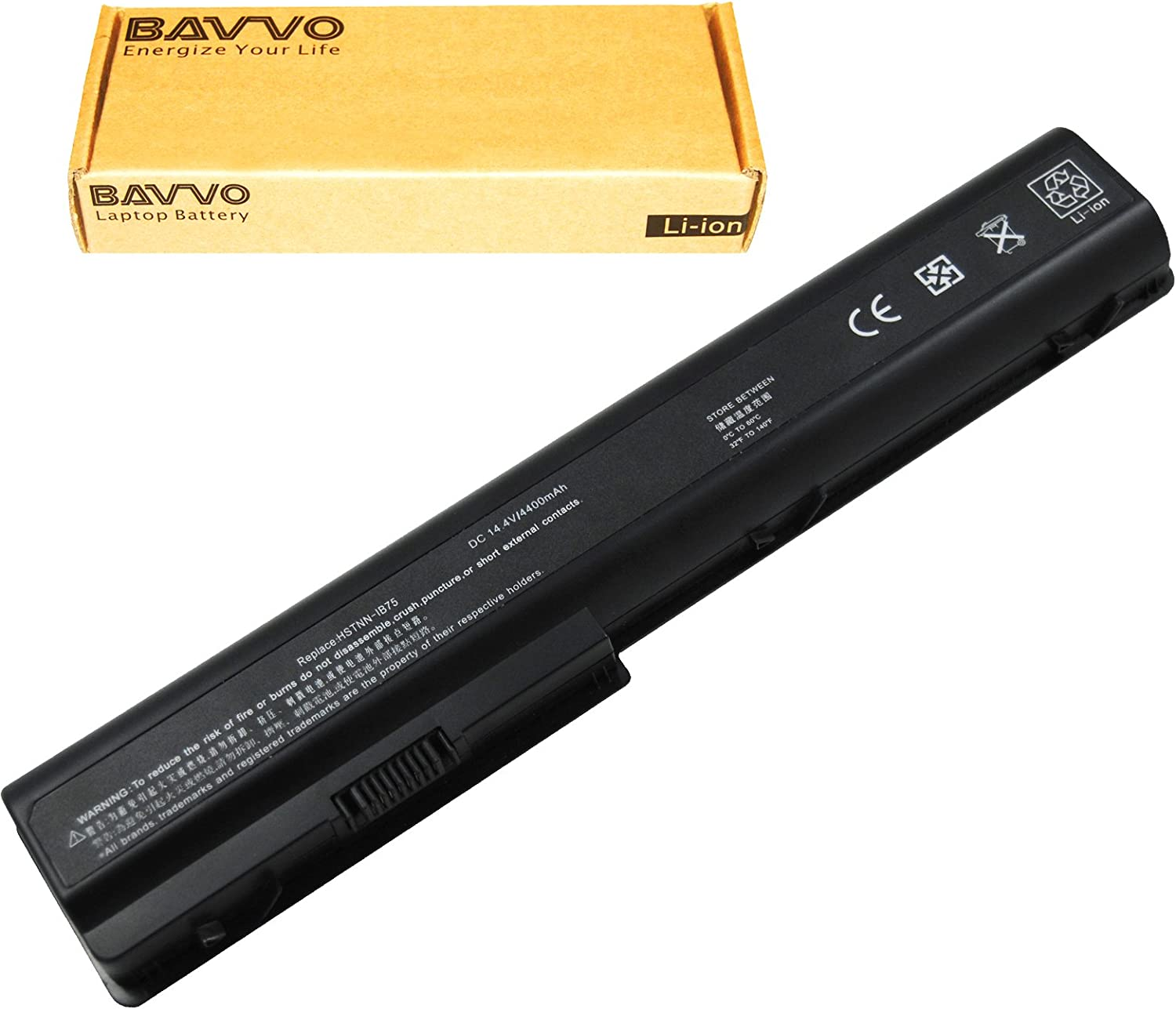 Bavvo 8-Cell Battery Compatible with Pavilion DV7-3170CA,DV7-3171NR,DV7-3173CA,DV7-3173NR,DV7-3174CA,DV7-3174NR,DV7-3178CA,DV7-3180US,DV7-3183CL,DV7-3183NR,DV7-3186CL,DV7-3187CL,DV7-3188CL,DV8-1093CA