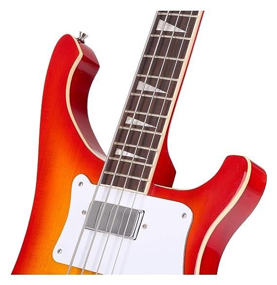 RB Bassgitarre E-Bass Longscale Humbucker Pickups Single Coil Pickups schwarz