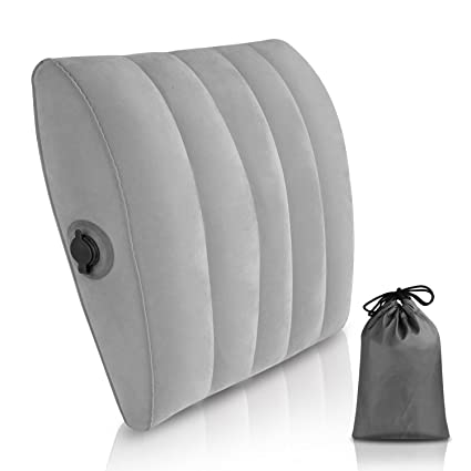 Simptech Lumbar Support Cushion, Portable And Inflatable Lumbar  Pillow,Comfort For Car ,Office