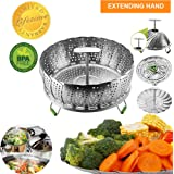Instant Pot Vegetable Steamer Basket for 6, 8 Quart, Instant Pot Accessories, Stainless Steel Steamer Food, Veggie Steamer Insert for Pressure Cooker, Compatible Steamer Basket Accessories