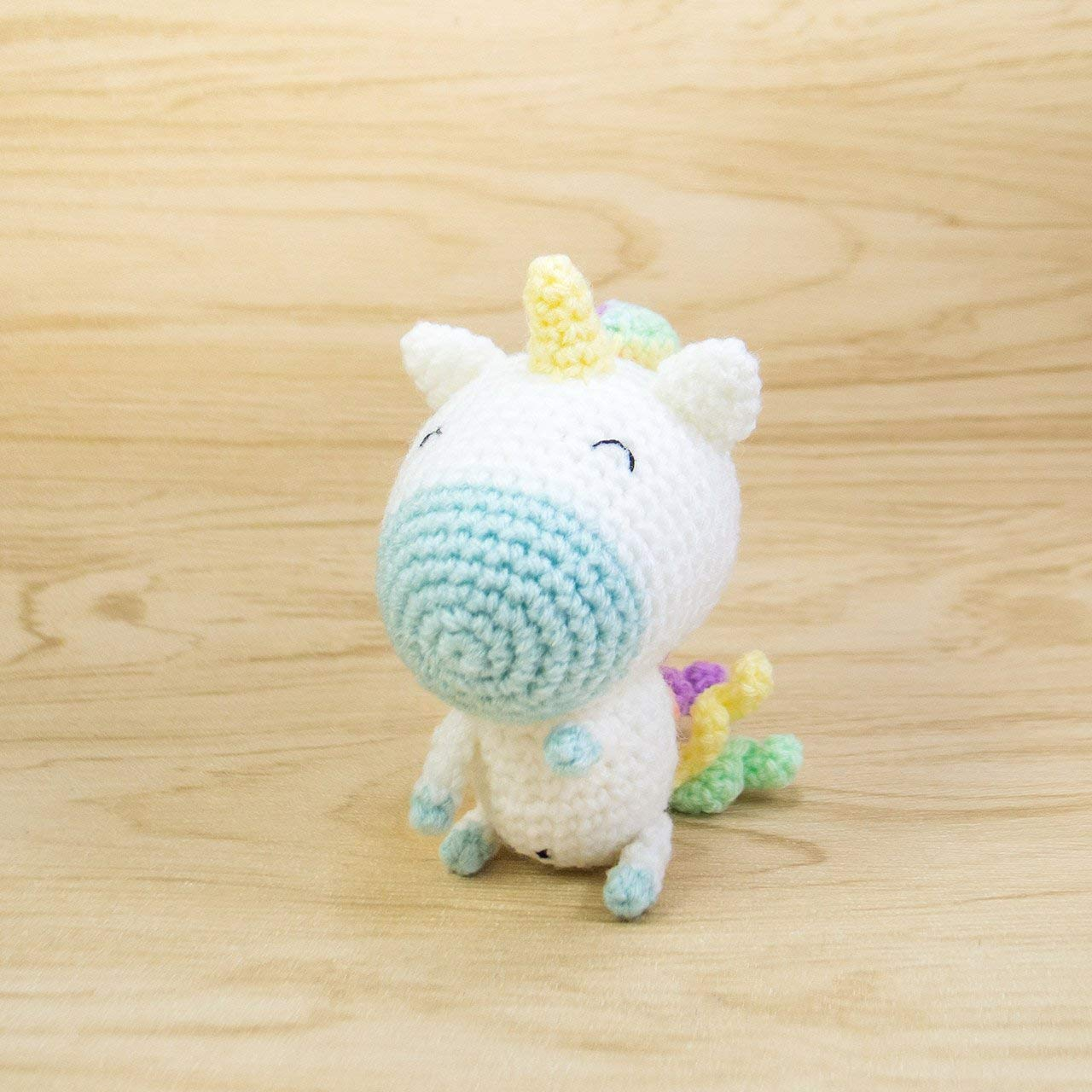 Dinegurumi - Official Shop - Rainbow Unicorn - Crochet Pattern | 1280x1280