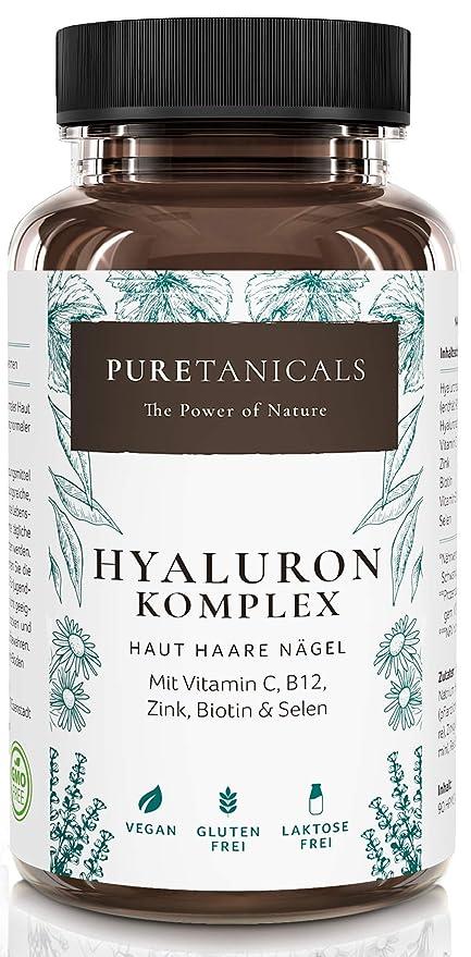 Cápsulas de Ácido Hialurónico Altas Dosis Analizado en Laboratorios - 350 mg puro + Vitamina C