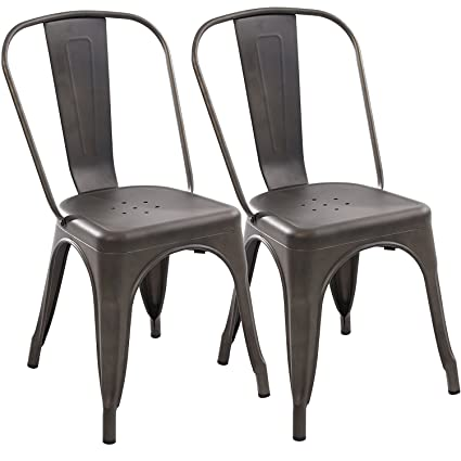 Attirant Poly And Bark Trattoria Side Chair In Bronze (Set Of 2)
