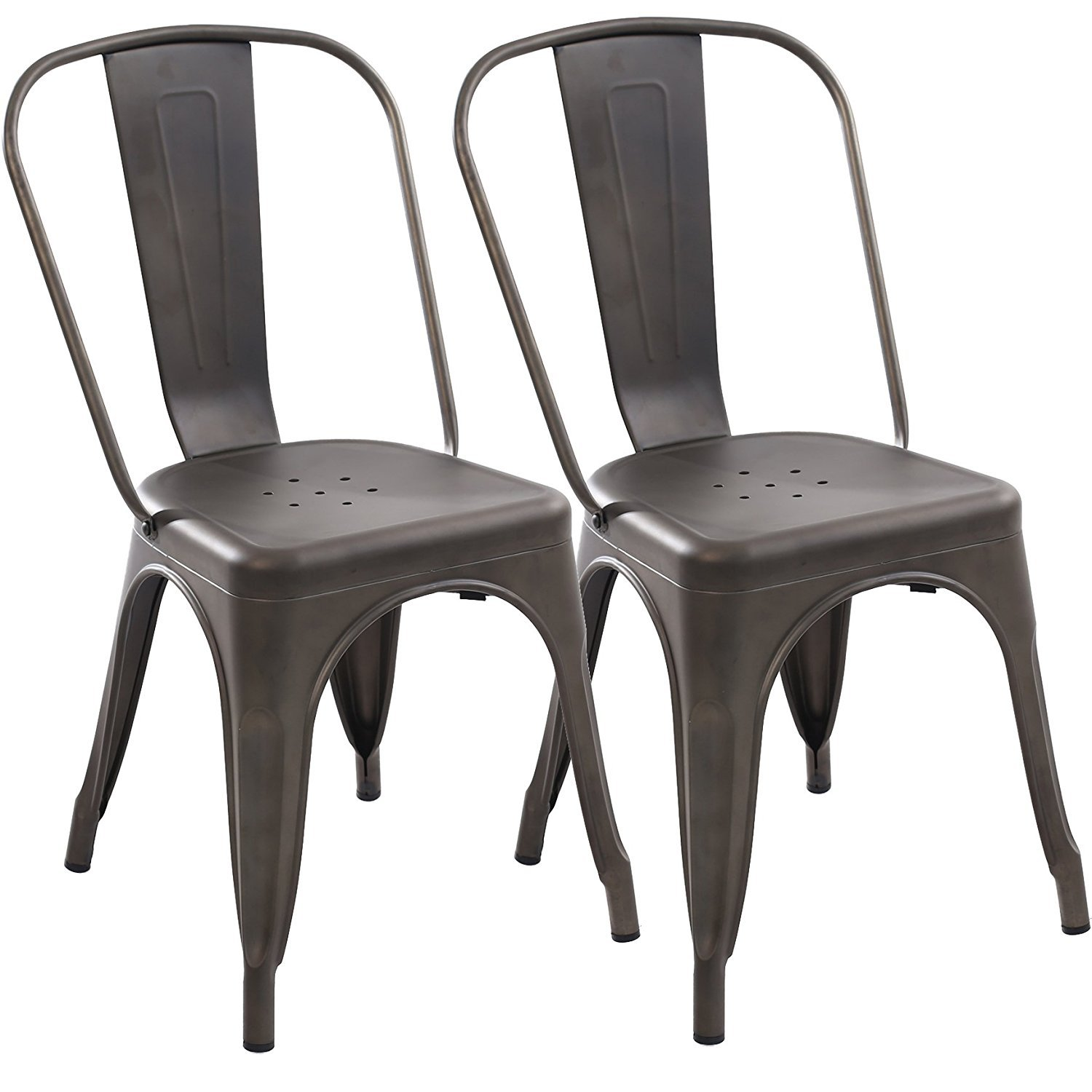 Poly and Bark Trattoria Side Chair in Bronze (Set of 2)