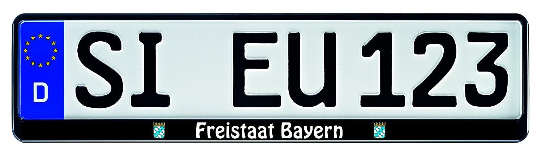 1 Paar Kennzeichenhalter Bundesland Freistaat Bayern Siebdruck