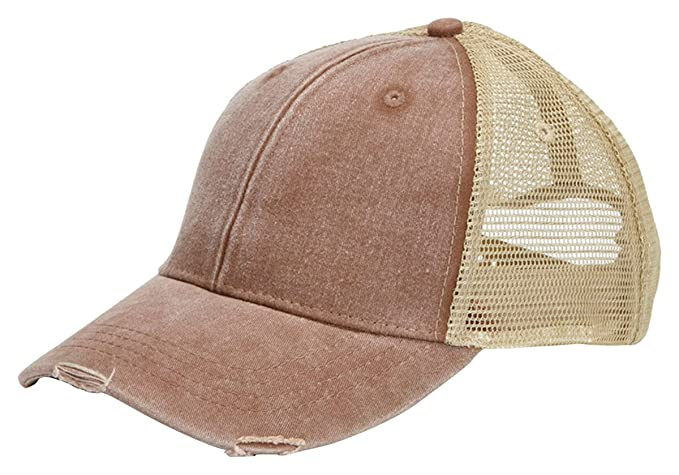 a41deb6ac Adams Durable Trucker Style Structured Ollie Cap, One Size, Mississipi  Mud/Tan