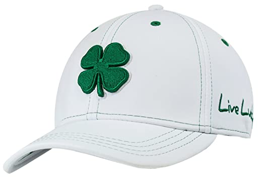 Black Clover LIVE LUCKY Premium Fitted Golf Cap Hat (L XL 00c9c6494119