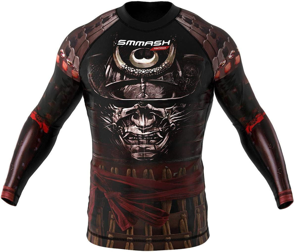 Rashguard SMMASH Samurai Manga Larga MMA BJJ UFC S M L XL XXL XXXL L